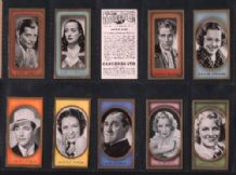 Film Favourites Cigarette cards set of cinema stars